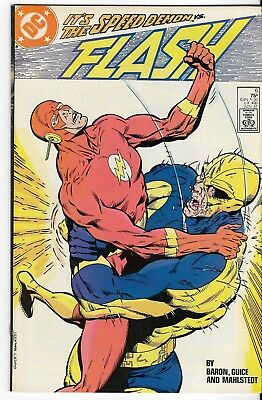 1987 The Flash Issue #6 Dc Comic Book Bag/board Rare Vintage