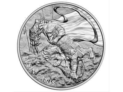 1 Clay The Twelve Guardians - ZI:SIN Canis South Korea Südkorea 1 oz Silber 2018