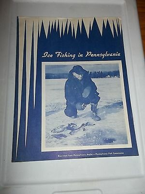 ICE FISHING IN PENNSYLVANIA booklet reprinted from Pennsylvania Angler