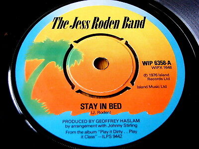 "The Jess Roden Band - Stay In Bed  7"" Vinyl"