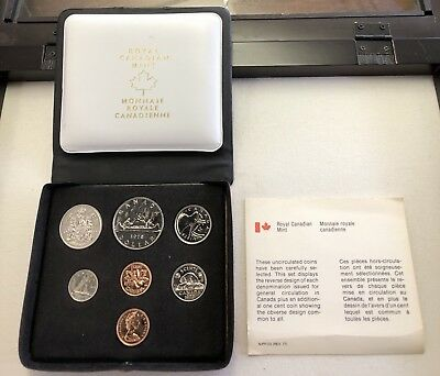 1978 Canada Uncirculated 7 Coin Royal Canadian Mint Set w/COA