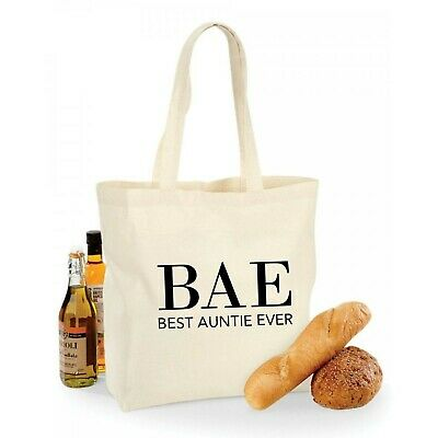 BAE Best Auntie Ever Tote Bag Funny Gift Aunt Cotton Shopping