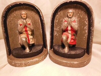 Vintage Knights of the Templar signed Bookends Manchester England Religious