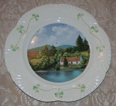 Vintage KEENNAGHAN COTTAGE PLATE By Kevin Irish Cottage Series LE Ireland CLOVER