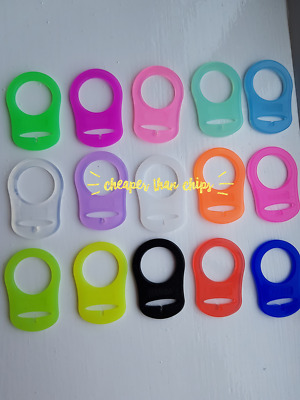 1-100 Mam Style Ring Clips Silicone Dummy Adapters 15 Colours Uk Seller