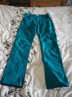 Boys trousers/jeans Vertbaudet - age 9 - teal green - reinforced knees - no tags