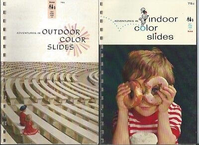 Kodak Vintage Photo Guides - lot of 3, indoor and outdoor slides, filters