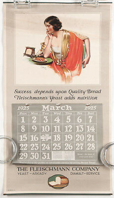 Fleischmann Yeast 1925 Advertising Calendar Fashionable Flapper Neysa McMein NR!