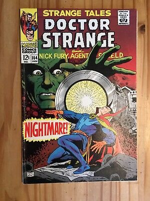 Strange Tales # 164 Marvel , Shield and Doctor Strange 1968,STERANKO Grade VG/FN