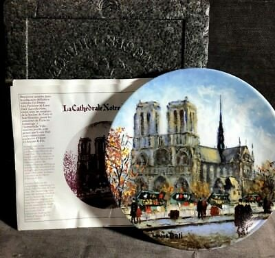 La Cathedrale Notre Dame Porcelain Limited Edition Collector Plate MS31