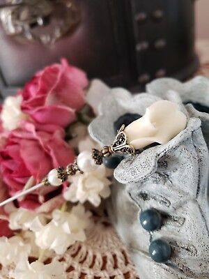 Victorian Hat Pin Vintage Inspired Lily & Pearl Antique Brass, Strong & Sharp