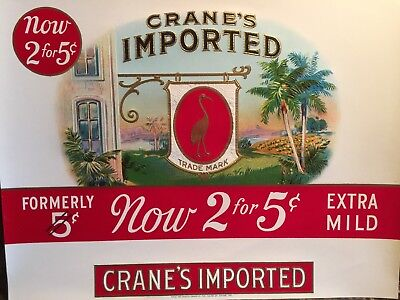 House of CRANE's Imported Vintage Embossed Original Cigar Box Inner Label