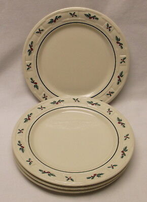 "Longaberger Holly Luncheon 9"" Plates 4"