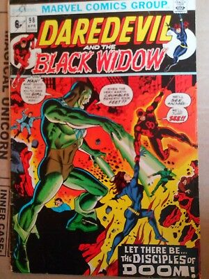 Daredevil And The Black Widow # 98 1973. VG-