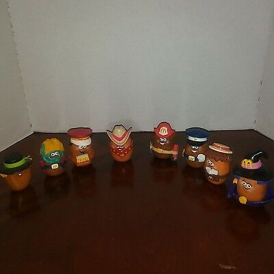 Lot of 8 Vintage McDonalds Happy Meal Toys Potato Heads/ Accessorys Collectible