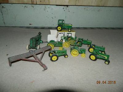 Vintage / Antique Toy John Deere Farm Implement Tractors Arcade Hubley Kiddietoy