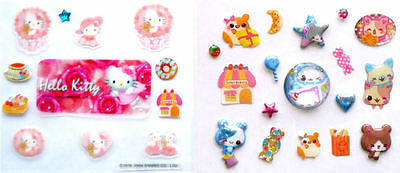 Hello Kitty sticker, 3D Kitty sticker, NEU , Sammlungsauflösung, süüüssss !