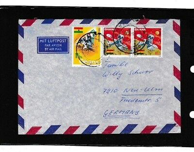 Ghana 311 A ,298 WELTRAUM SPACE VOGEL BIRD WILD LIFE AFRICA BRIEF COVER FAHNE