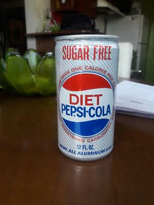 1967 60s Rare Aluminum Diet Sugar Free Pepsi Cola Pull Tab Soda Can Pop Empty