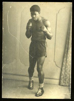 1940's Vintage Photo African American Boxer Boxing Gloves Candid Amateur Photo