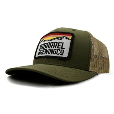 10 Barrel Beer - Mountain Patch Trucker Hat - Olive Green - Adjustable/OSFA