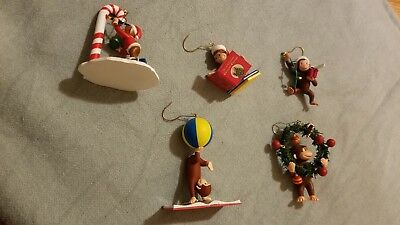 Curious George Christmas Ornaments- set of 5