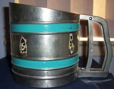 Vintage Foley Sift Chine Flour Sifter Triple Screen Preowned