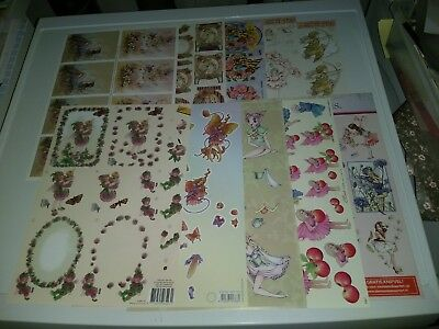 10X 3D Sheets For Making Cards Scissors Need Fairies New (A3726)
