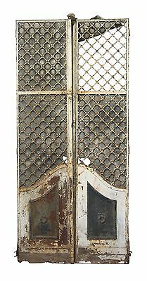 19th Century French Provincial Woven Iron Doors with Floral Rosettes