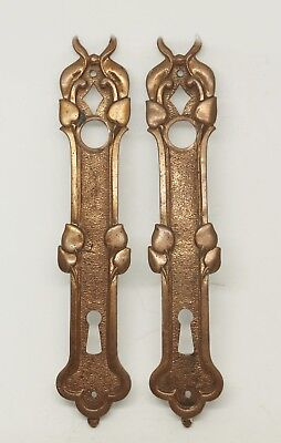 Antique French Bronze Door Plates