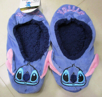 Ladies  Official Disney Lilo & Stitch  Fleece Footlets Slippers Soks   3 -5 Uk