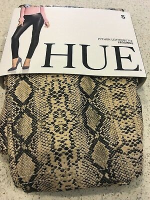 5afaccec634708 NWT HUE WOMEN'S Python Print Cotton Leggings Black Snake Skin U14786 ...