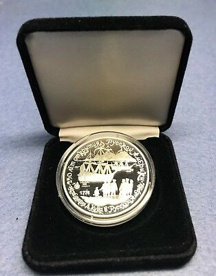 1991 Russia 3 Roubles Silver Proof Coin - James Cook at Unalaska