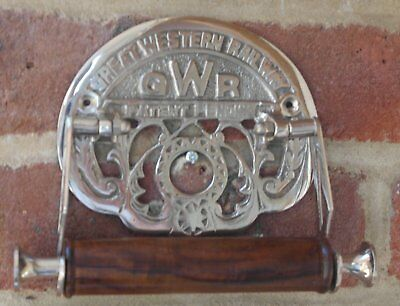 Victorian style GWR Nickel plated decorative toilet roll holder