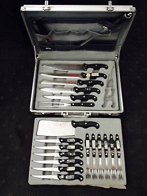 Quality Solingen Berman & Benz Stainless Steel Knife Set Germany Attache Case
