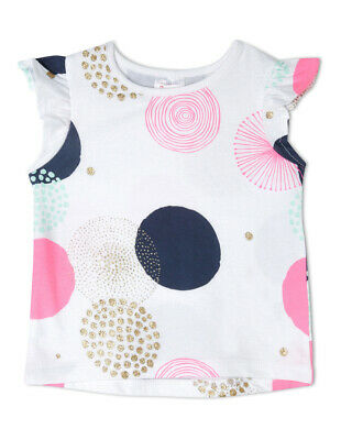 NEW Sprout Girls Essential Top TGS19000-CW9 White