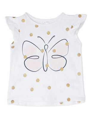 NEW Sprout Girls Essential Top TGS19000-CW4 White