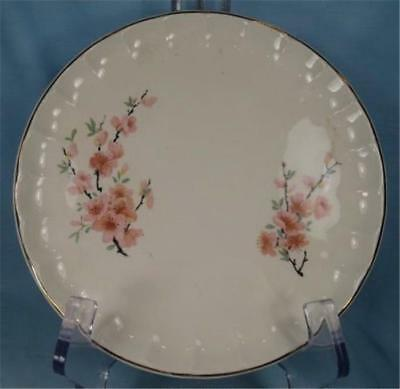 Peach Blossom Bolero Salad Plate W S George Two Branches Of Pink Flowers (O)