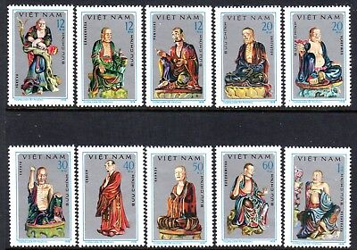 1978 VIETNAM TAY PHUONG PAGODA SCULPTURES SG210-219 mint no gum as issued