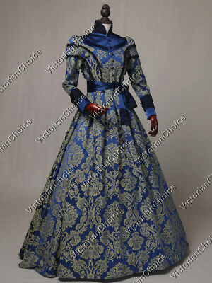Victorian Regal Queen Dress Game of Thrones Steampunk Theater Costume N C021 M
