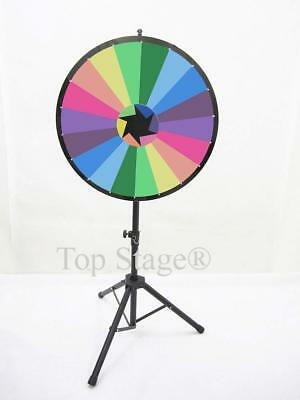 "Defect - 24"" Prize Spin Wheel with Color, Trade Show Fortune Game Spinner Stand"