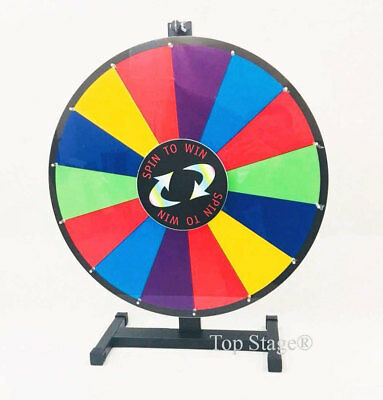"Slight Defect - 18"" Prize Spin Wheel, Trade Show Fortune Game  Spinner"