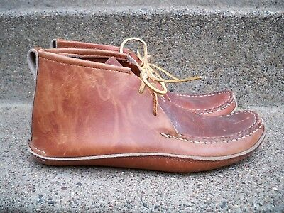 Vintage Carl Dyer's? Mountain Man Lace Boot Leather Moccasins Double Sole Men 10
