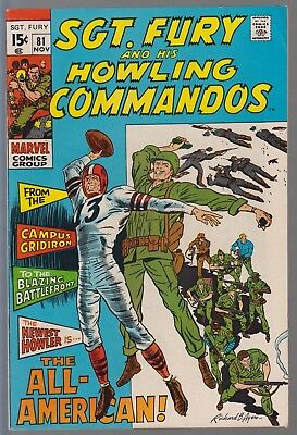 Sgt. Fury And His Howling Commandos #81 Fn+ 1970 Marvel Comics