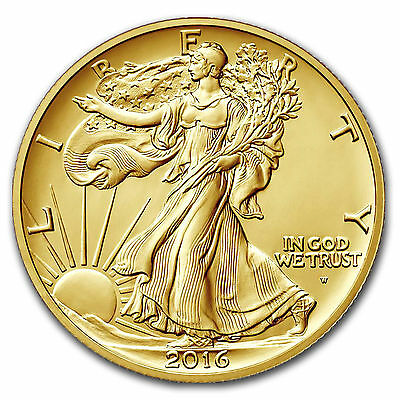 2016 Centennial Gold Walking Liberty Half Dollar w/OGP