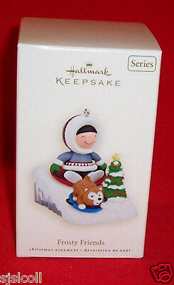 Hallmark 2008 FROSTY FRIENDS 29th In Series Eskimo Ornament NEW