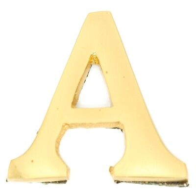 Small 32 mm Solid Brass Letter A Self Adhesive