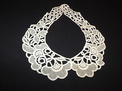 White Cut Out Victorian Style Collar