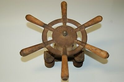 Vintage Waterwitch Boat Sterring Wheel Assembly