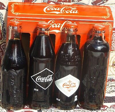 2017 Australian Coca Cola Vintage Inspired Set Of 4 Bottle Release In Gift Box